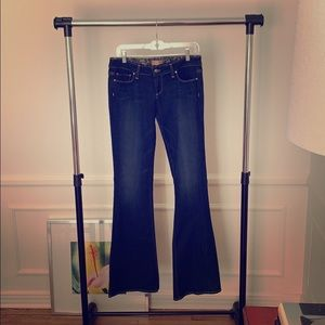Paige Canyon Flare Dark Wash Jeans - NWOT